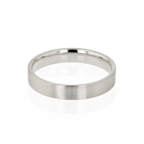 Mens Wedding Band | Level I Brushed
