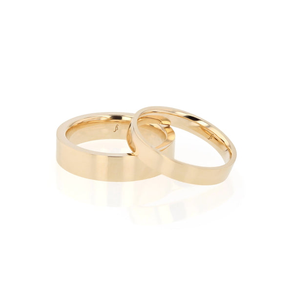 Level Bold II Mens Wedding Band Gold | Sarah & Sebastian