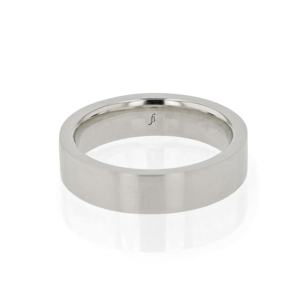 Level Bold II Mens Wedding Band White Gold | Sarah & Sebastian