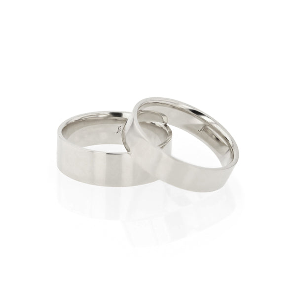 Level III Mens Wedding Band White Gold | Sarah & Sebastian