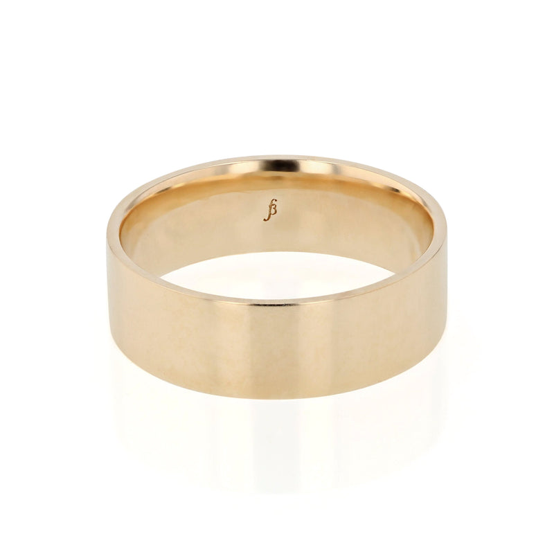 Level III Polished Mens Wedding Band Yellow Gold | Sarah & Sebastian