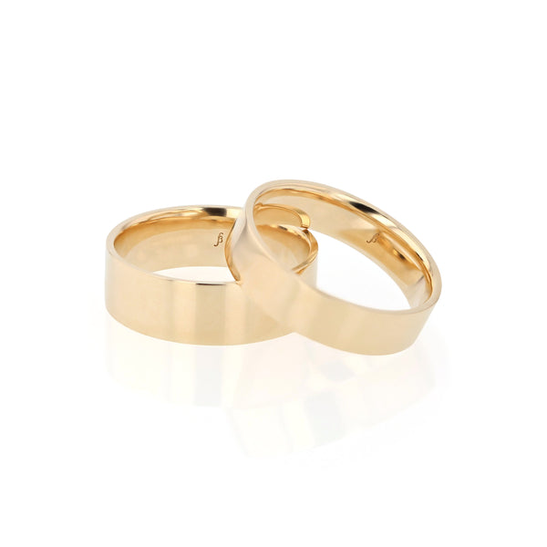 Level II Mens Wedding Band Yellow Gold | Sarah & Sebastian