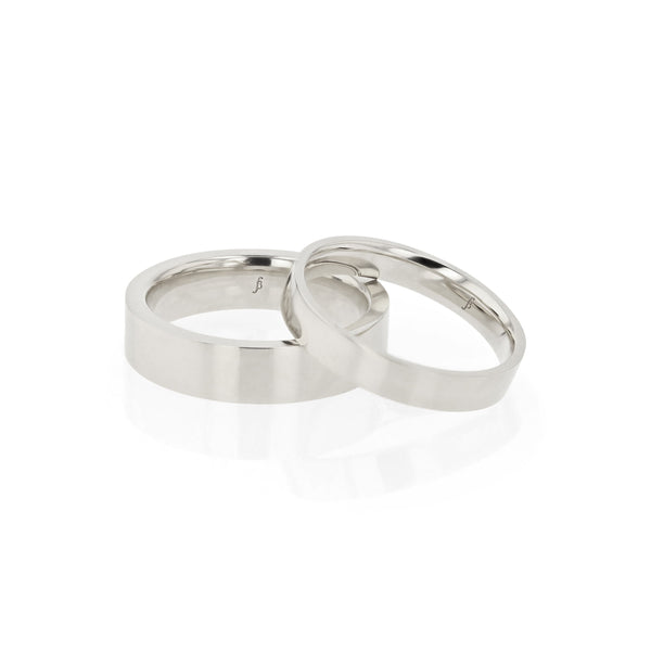 Level I Mens Wedding Band White Gold | Sarah & Sebastian