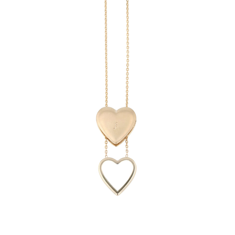 Heart Locket Necklace Gold | Sarah & Sebastian