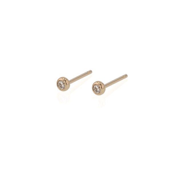 Diamond Lunette Earrings Gold | Sarah & Sebastian