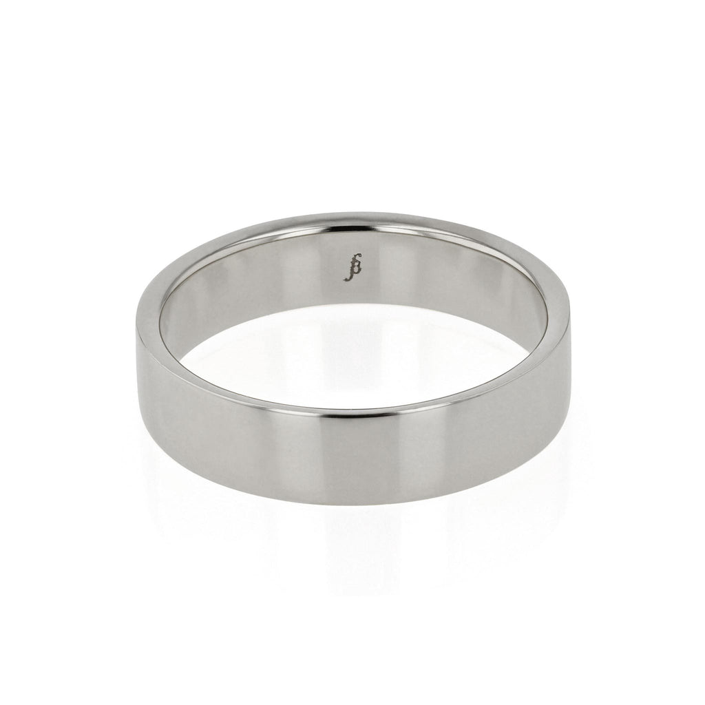 Mens Wedding Band | Chamfered