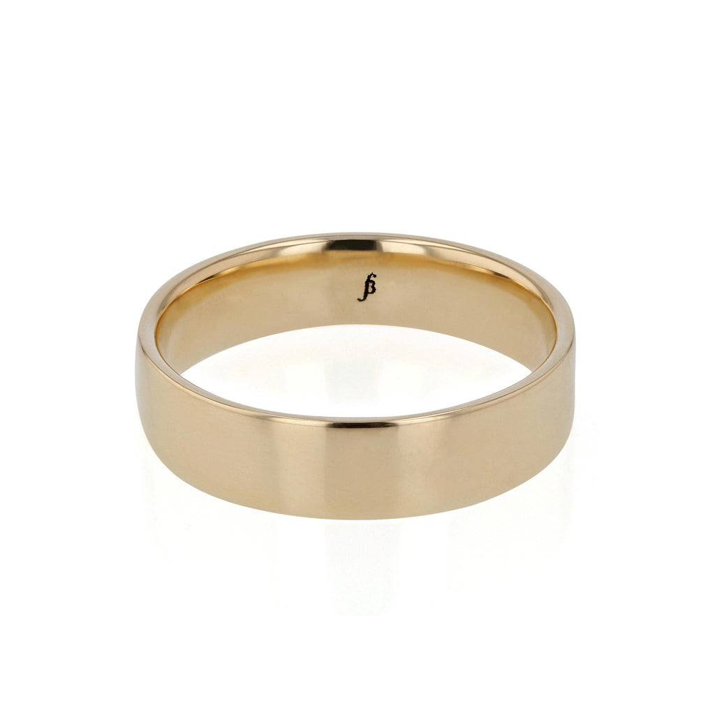 Mens Wedding Band | Inside Convex
