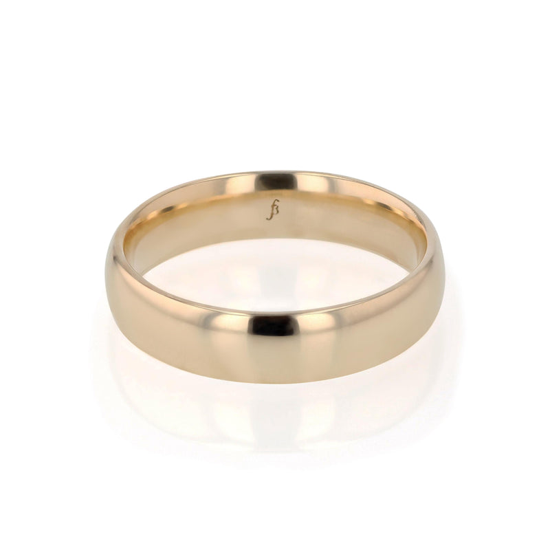 Mens Wedding Band Dome II Brushed Gold | Sarah & Sebastian