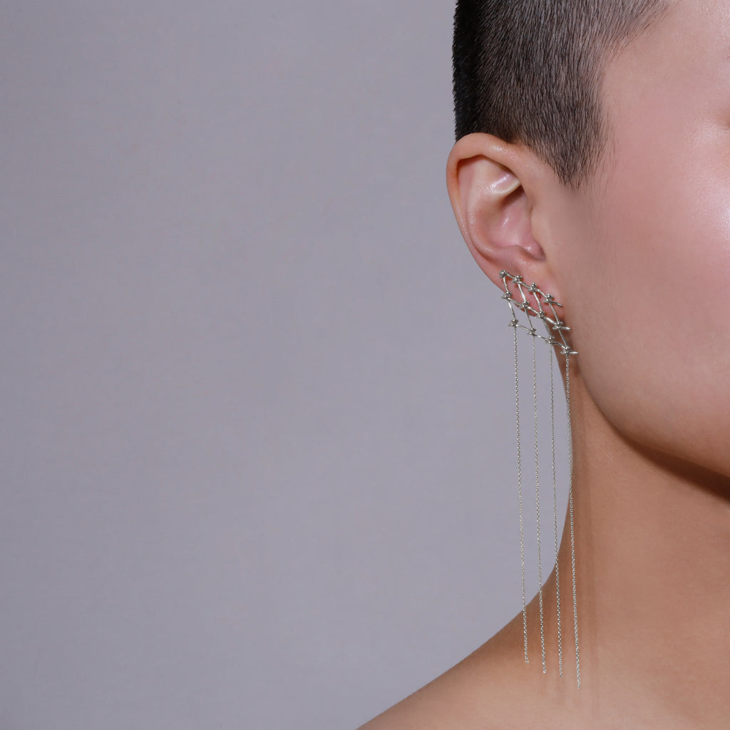 Net Chain Earrings