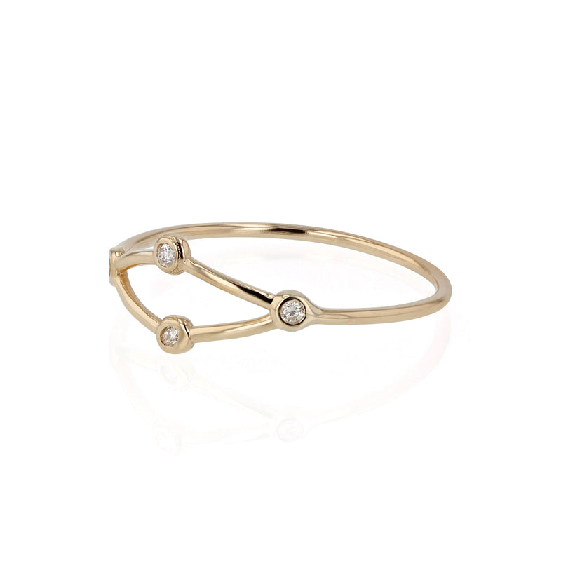 Fine Net Diamond Ring Yellow Gold | Sarah & Sebastian