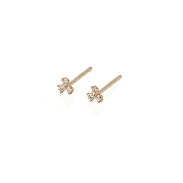 Trio Diamond Earrings Gold | Sarah & Sebastian