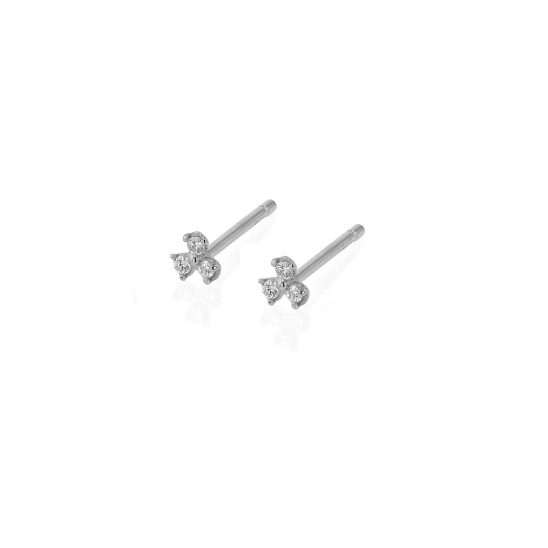 Trio Diamond Earrings White Gold | Sarah & Sebastian