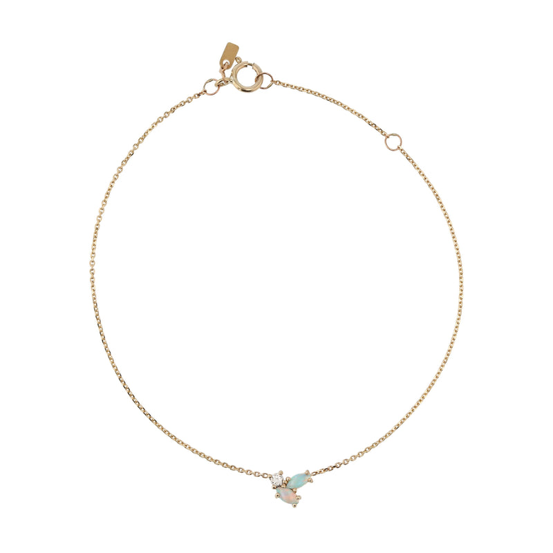 Nymph Diamond Bracelet Gold | Sarah & Sebastian