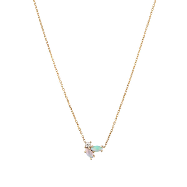 Nymph Diamond Necklace Gold | Sarah & Sebastian onBody