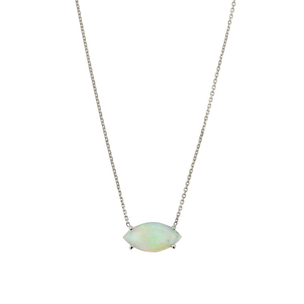 Nymph Opal Necklace White Gold | Sarah & Sebastian