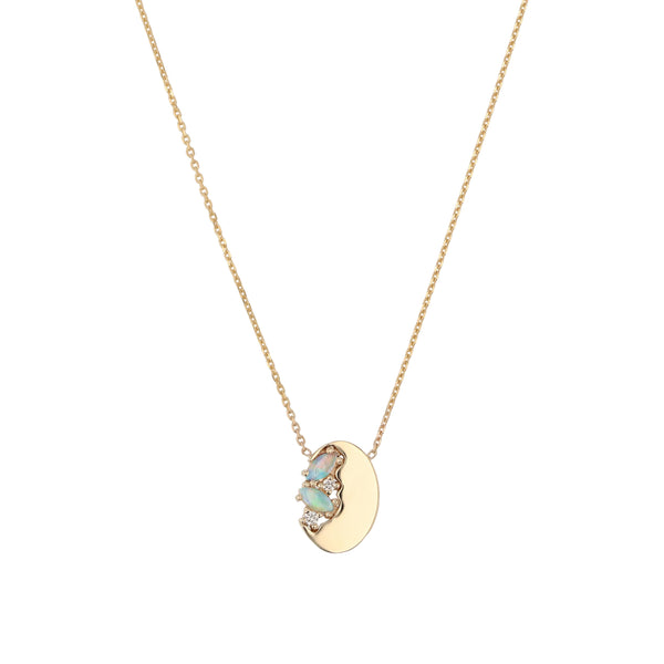 Nymph Oval Necklace Gold | Sarah & Sebastian