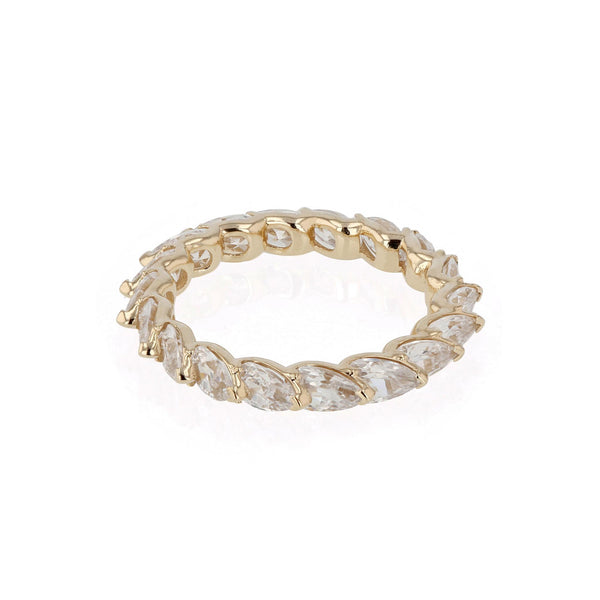 Overlay Pear Ring Yellow Gold | SARAH & SEBASTIAN