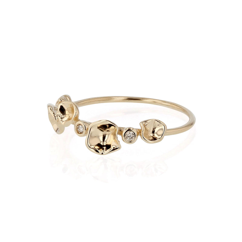 Oyster Bed Diamond Ring Yellow Gold | Sarah & Sebastian