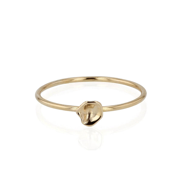Oyster Fine Band Ring Yellow Gold | Sarah & Sebastian