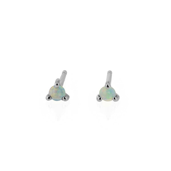 Element Opal Stud Earrings Silver | Sarah & Sebastian