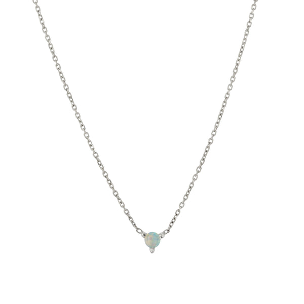 Opal Element Necklace Silver | Sarah & Sebastian