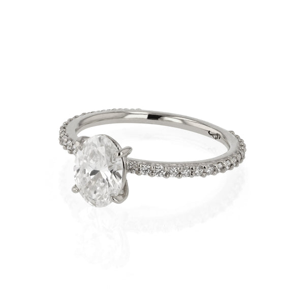 Oval Eternity Diamond Ring White Gold | Sarah & Sebastian