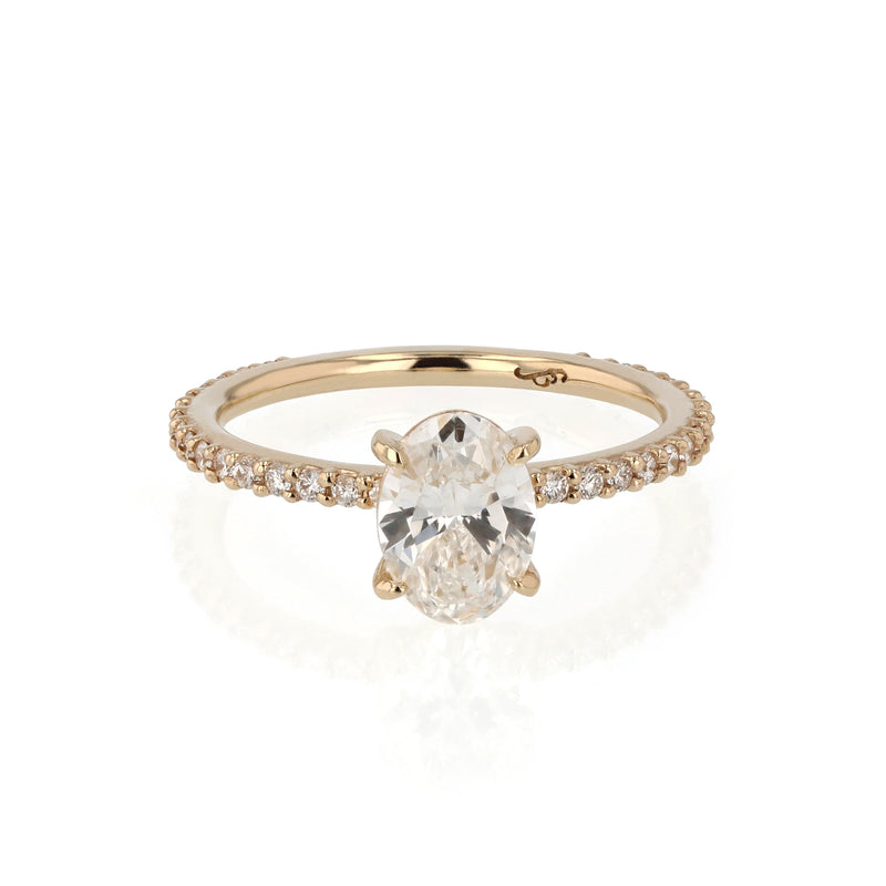 Oval Eternity Diamond Ring Gold | Sarah & Sebastian