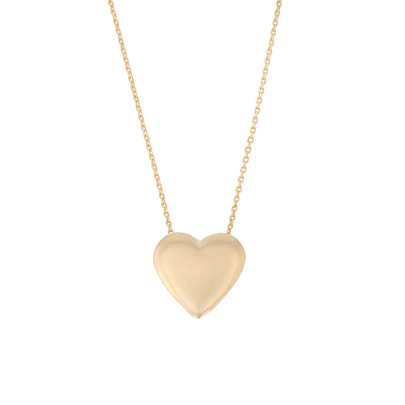 Plain Love Locket Necklace Gold | Sarah & Sebastian