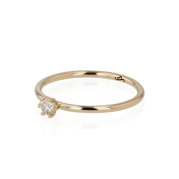 Promise Diamond Ring Gold | Sarah & Sebastian