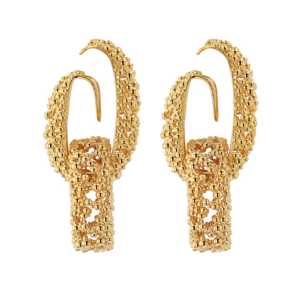 Papilla Chain Earrings | Vermeil