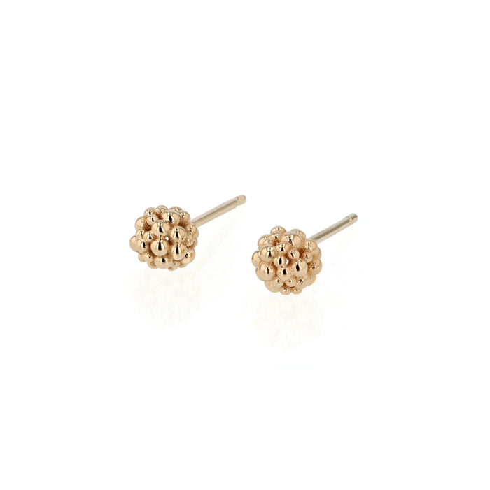 Fine Papilla Bead Earrings Gold | Sarah & Sebastian