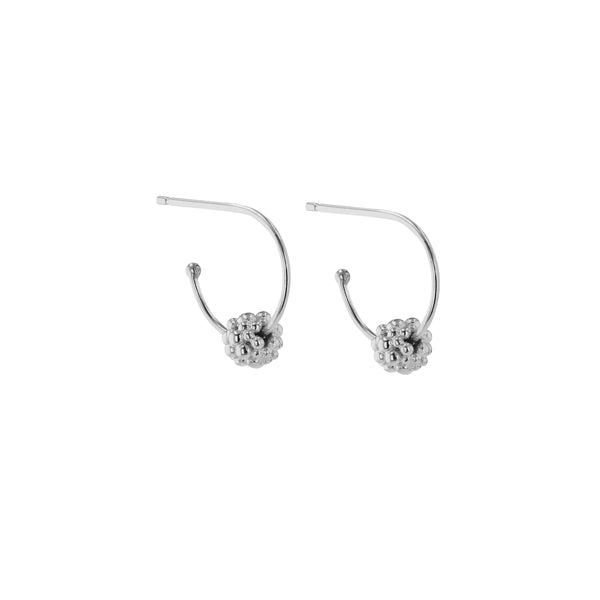 Fine Papilla Hoop Earrings Silver | Sarah & Sebastian