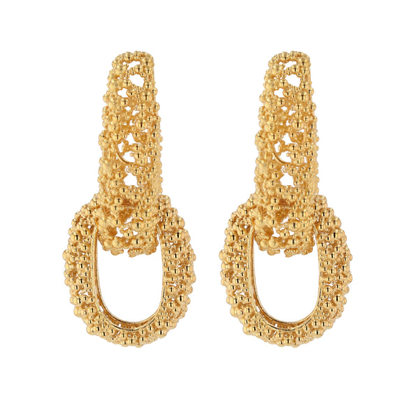 Statement Papilla Chain Earrings Vermeil | Sarah & Sebastian