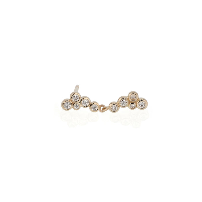 Single Papilla Diamond Earring Gold | Sarah & Sebastian