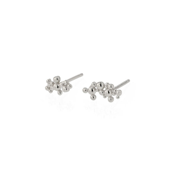 Fine Papilla Earrings Silver | Sarah & Sebastian