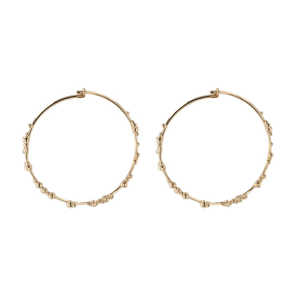 Statement Papilla Hoop Earrings Gold | Sarah & Sebastian
