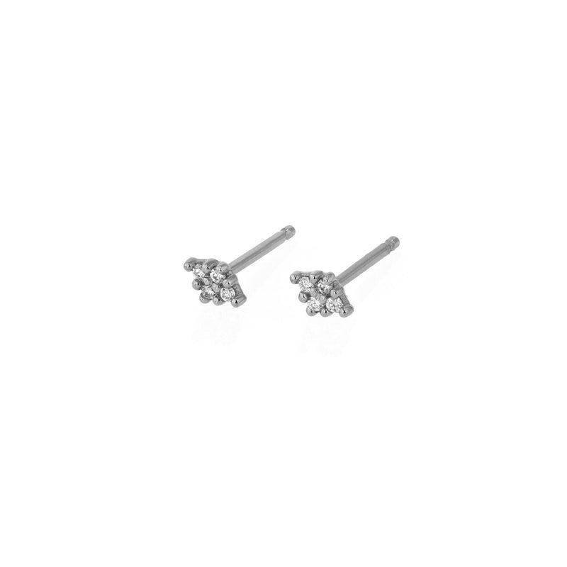 Rhombus Diamond Earrings White Gold | Sarah & Sebastian