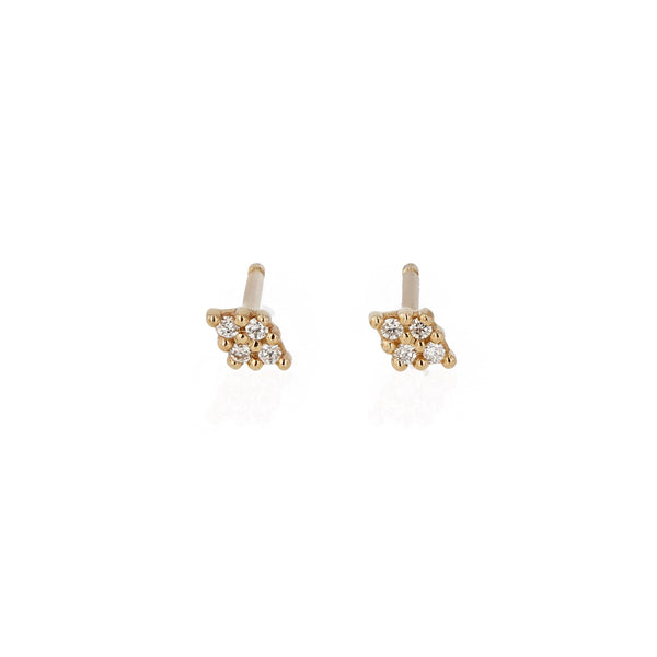 Rhombus Diamond Earrings Yellow Gold | Sarah & Sebastian