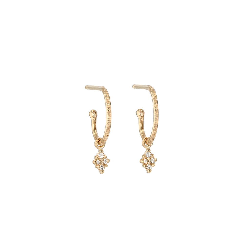 Rhombus Diamond Hoops