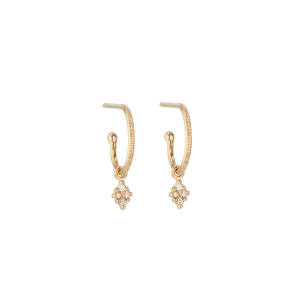 Rhombus Diamond Hoops Yellow Gold | Sarah & Sebastian