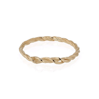 Rope Ring Gold | Sarah & Sebastian