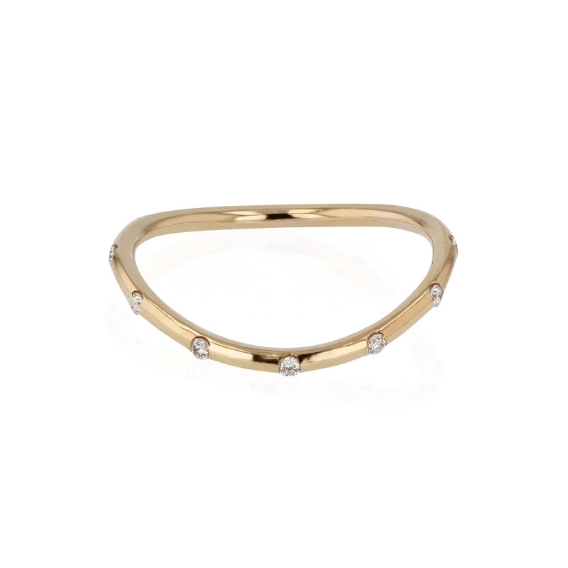 Round Curve 12 Ring Yellow Gold | SARAH & SEBASTIAN