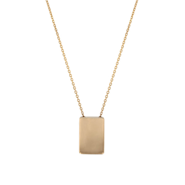 Rectangle Locket Necklace Gold | Sarah & Sebastian