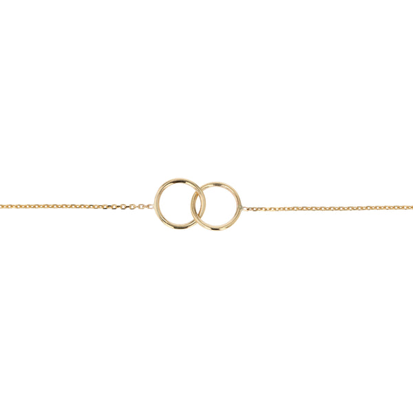 Interlocking Ringed Bracelet Gold | Sarah & Sebastian