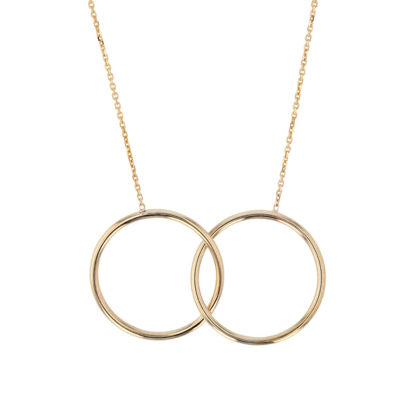 Interlocking Ringed Necklace Gold | Sarah & Sebastian