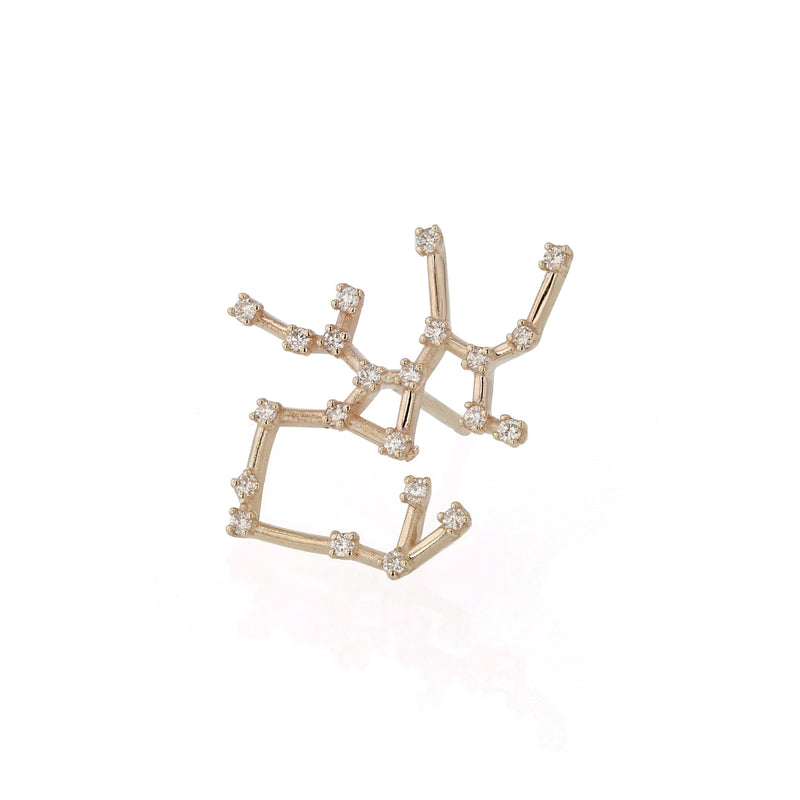 Single Celestial Sagittarius Earring Yellow Gold | Sarah & Sebastian