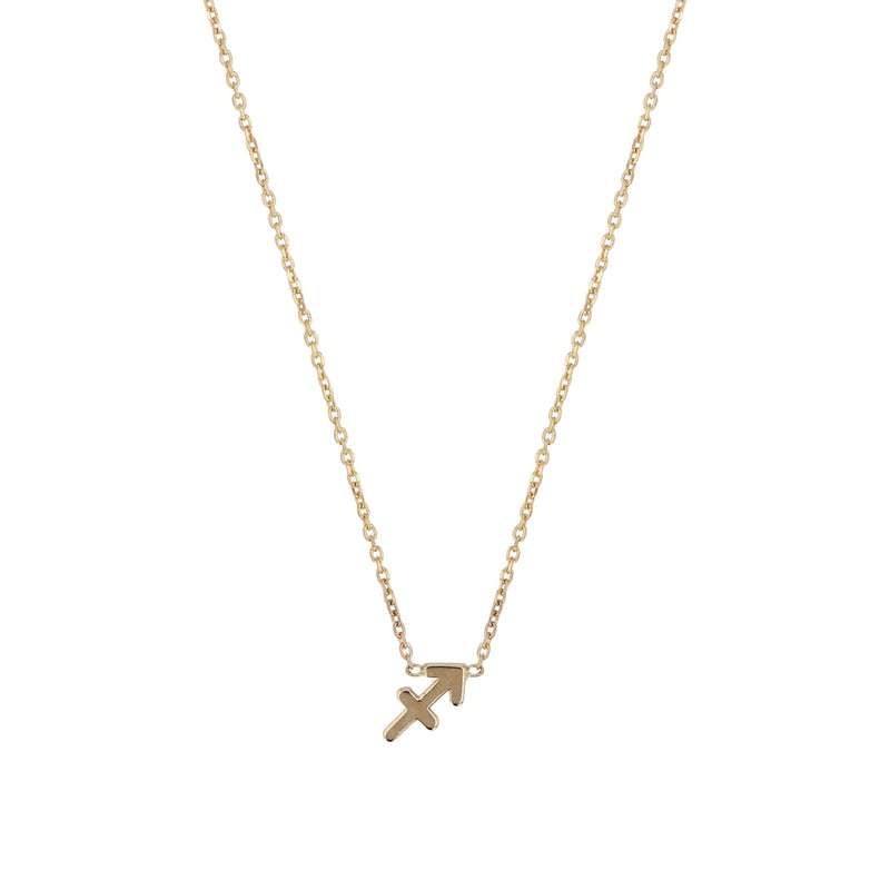 Zodiac Fine Chain Necklace Yellow Gold | SARAH & SEBASTIAN