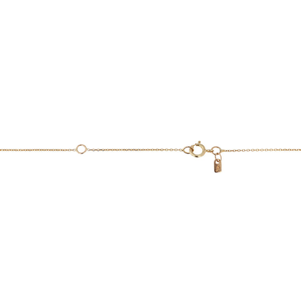 Quarter Lunette Diamond Necklace Gold | SARAH & SEBASTIAN