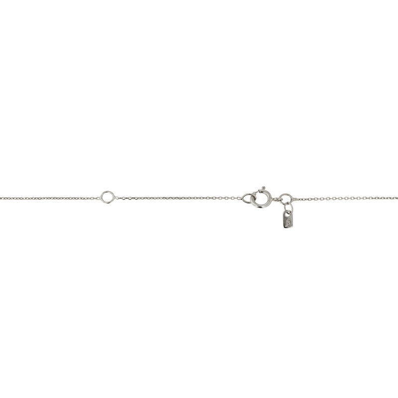 Lunette Pendant Necklace White Gold | SARAH & SEBASTIAN