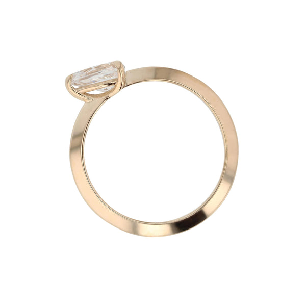 Side Pear Ring Gold | Sarah & Sebastian
